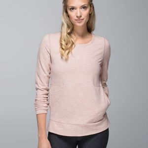 Lululemon Exhalation Pullover in Heathered Pink